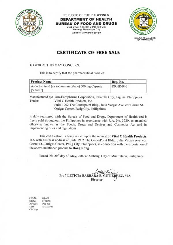 Template certificate of free sale gallery certificate design and template certificate of free sale images certificate design and sample certificate of free sale image collections yelopaper Image collections